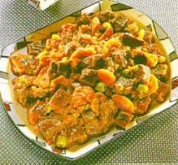 Stufato piccante di Manzo con Olive e Albicocche