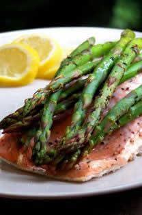 Salmone con asparagi